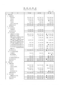 平成29年度貸借対照表のサムネイル